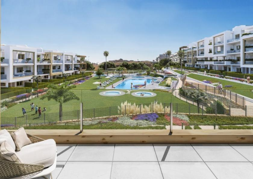 Stylish modern 2 & 3 bedroom apartments in Villamartin with views of the communal pool and gardens